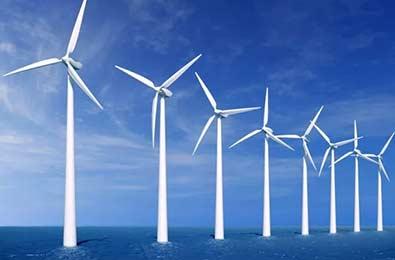 风力发电枫叶